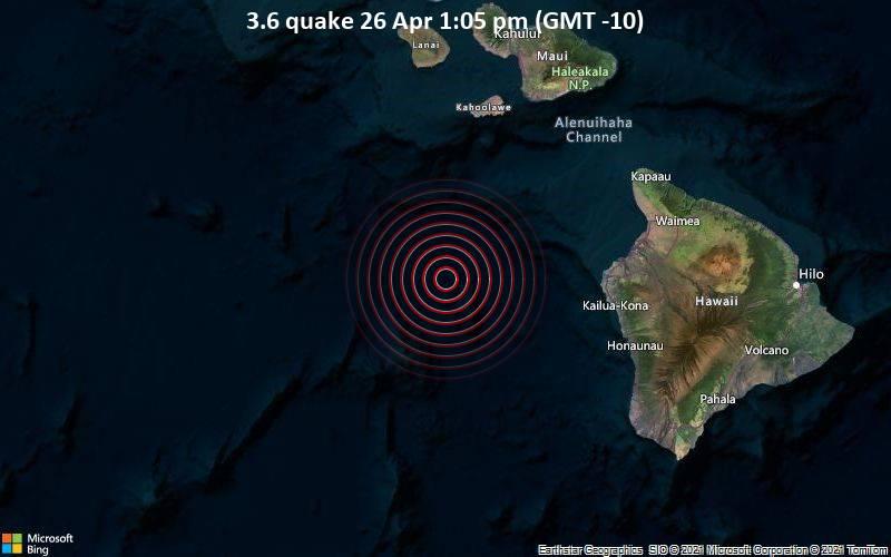 3.6 quake 26 Apr 1:05 pm (GMT -10)