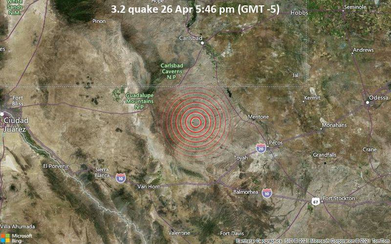 3.2 quake 26 Apr 5:46 pm (GMT -5)