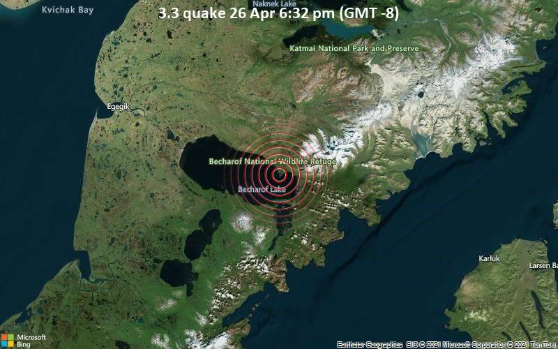 3.3 Gempa 26 Apr 18:32 (GMT -8)