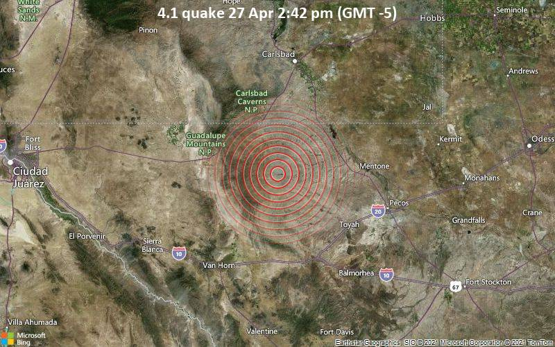 4.1 quake 27 Apr 2:42 pm (GMT -5)