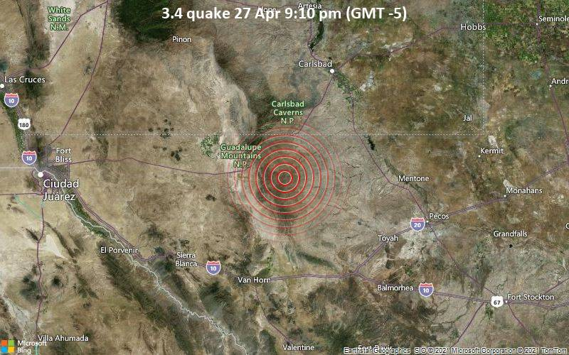 3.4 quake 27 Apr 9:10 pm (GMT -5)
