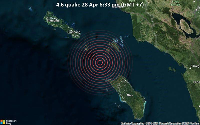 4.6 Gempa 28 Apr 18:33 (GMT +7)