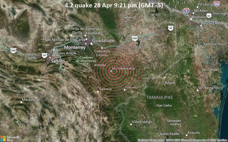 4.2 quake 28 Apr 9:21 pm (GMT -5)