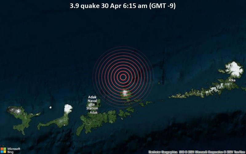 3.9 quake 30 Apr 6:15 am (GMT -9)