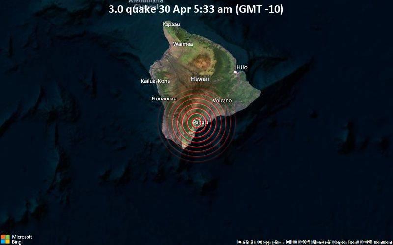 3.0 quake 30 Apr 5:33 am (GMT -10)