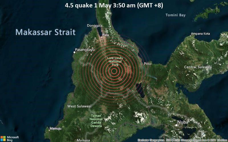 4.5 quake 1 May 3:50 am (GMT +8)