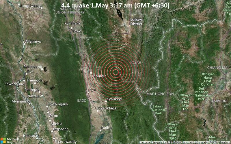 4.4 Gempa 1 Mei 3:17 (GMT +6: 30)