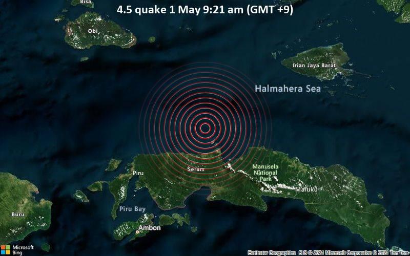 4.5 quake 1 May 9:21 am (GMT +9)