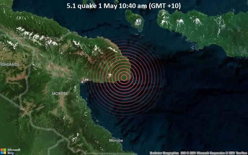 5.1 quake 1 May 10:40 am (GMT +10)