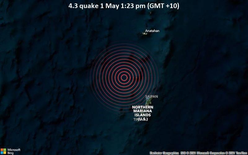 4.3 quake 1 May 1:23 pm (GMT +10)