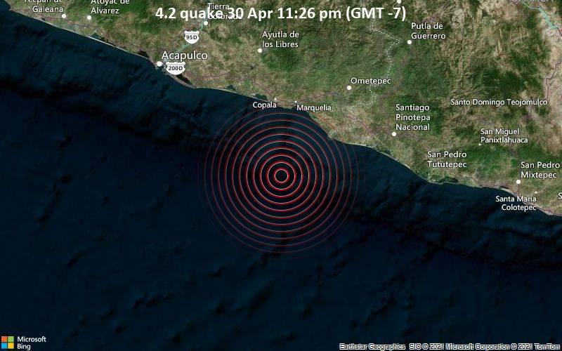4.2 quake 30 Apr 11:26 pm (GMT -7)