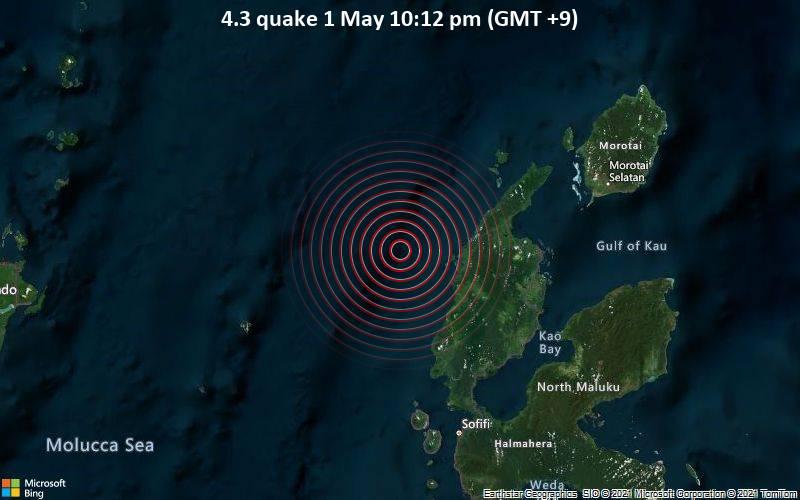 4.3 quake 1 May 10:12 pm (GMT +9)