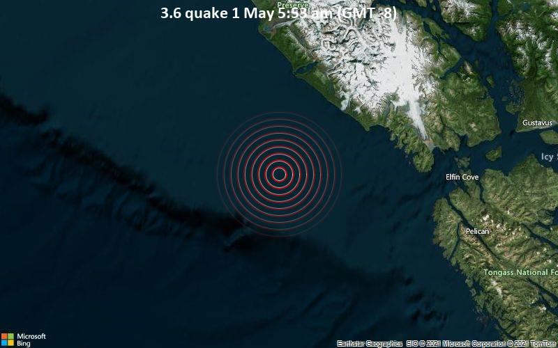 3.6 quake 1 May 5:53 am (GMT -8)