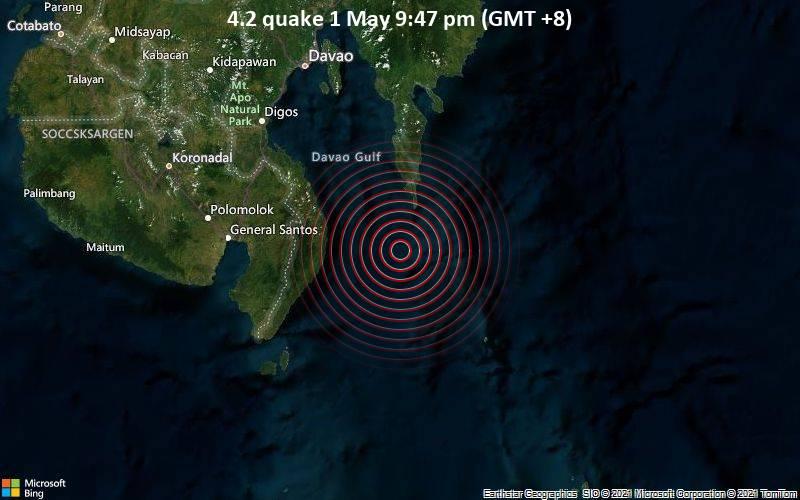 4.2 quake 1 May 9:47 pm (GMT +8)