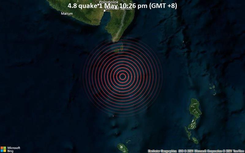 4.8 Gempa 1 Mei 10:26 malam (GMT +8)