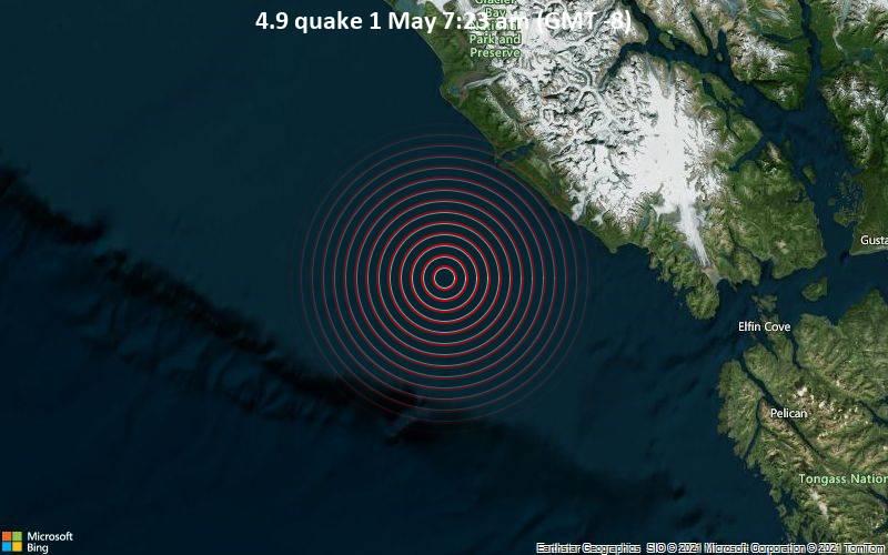 4.9 Gempa bumi 1 Mei 7:23 pagi (GMT -8)