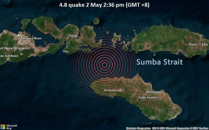 4.8 Terremoto 2 de mayo 2:36 pm (GMT +8)