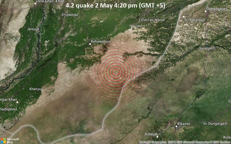 4.2 quake 2 May 4:20 pm (GMT +5)