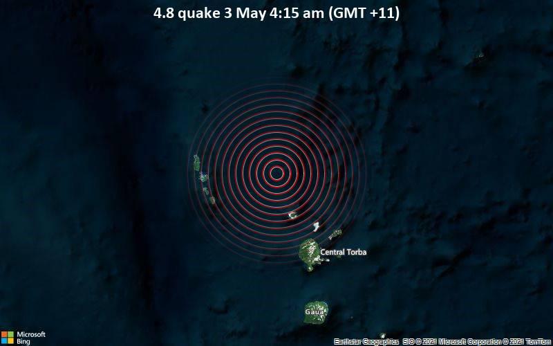 4.8 quake 3 May 4:15 am (GMT +11)