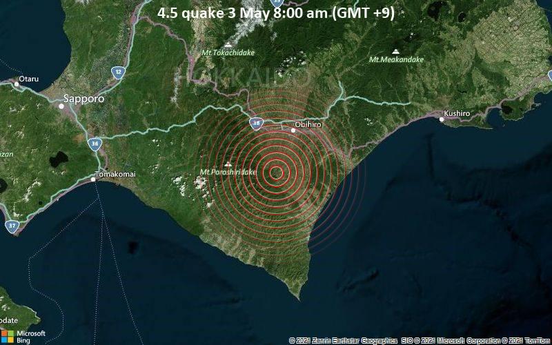 4.5 quake 3 May 8:00 am (GMT +9)