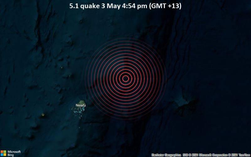 5.1 quake 3 May 4:54 pm (GMT +13)