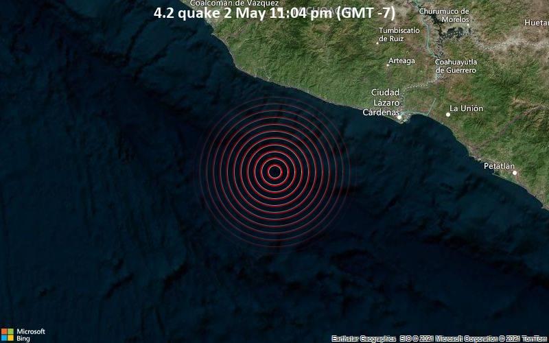 Gempa 4.2 pada 2 Mei 23:04 (GMT -7)