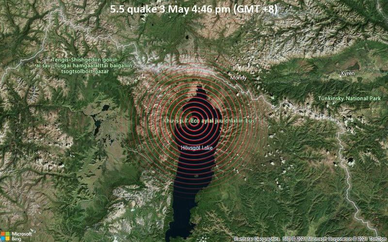 Gempa 5,5 pada 3 Mei 16:46 (GMT +8)