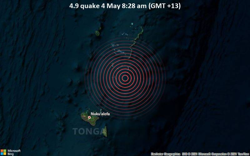 4.9 quake 4 May 8:28 am (GMT +13)