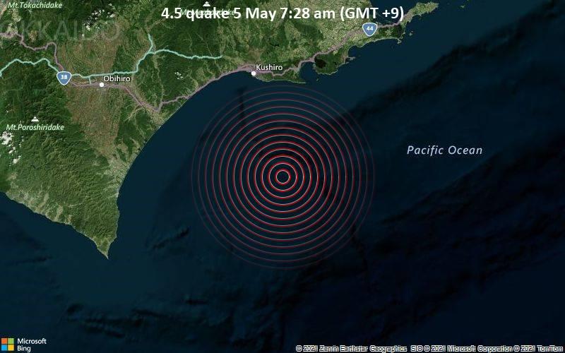 4.5 quake 5 May 7:28 am (GMT +9)