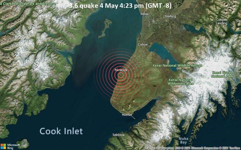 3.6 quake 4 May 4:23 pm (GMT -8)