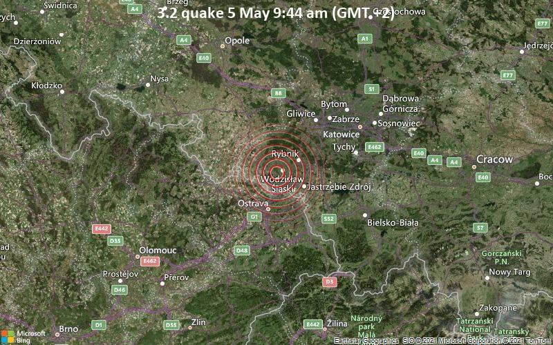 3.2 quake 5 May 9:44 am (GMT +2)