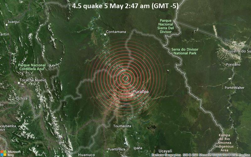 4.5 quake 5 May 2:47 am (GMT -5)