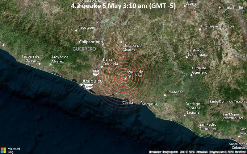 4.2 quake 5 May 3:10 am (GMT -5)