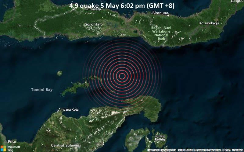 4.9 quake 5 May 6:02 pm (GMT +8)