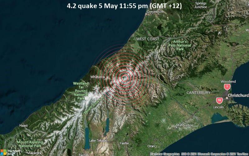 4.2 quake 5 May 11:55 pm (GMT +12)