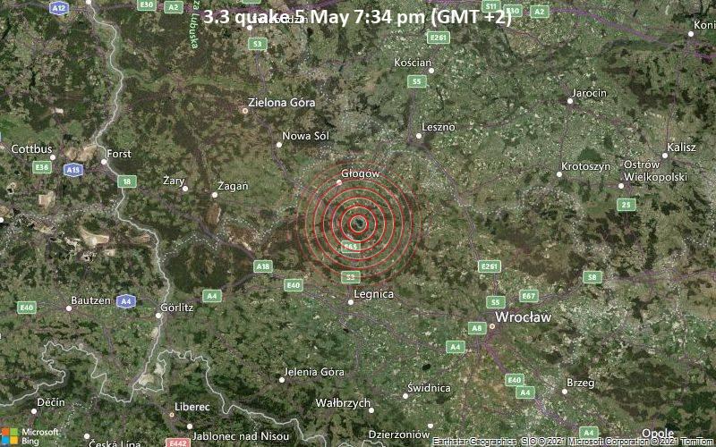 3.3 quake 5 May 7:34 pm (GMT +2)
