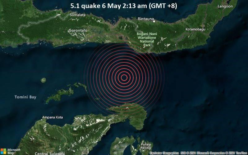 5.1 Gempa bumi 6 Mei 2:13 pagi (GMT +8)