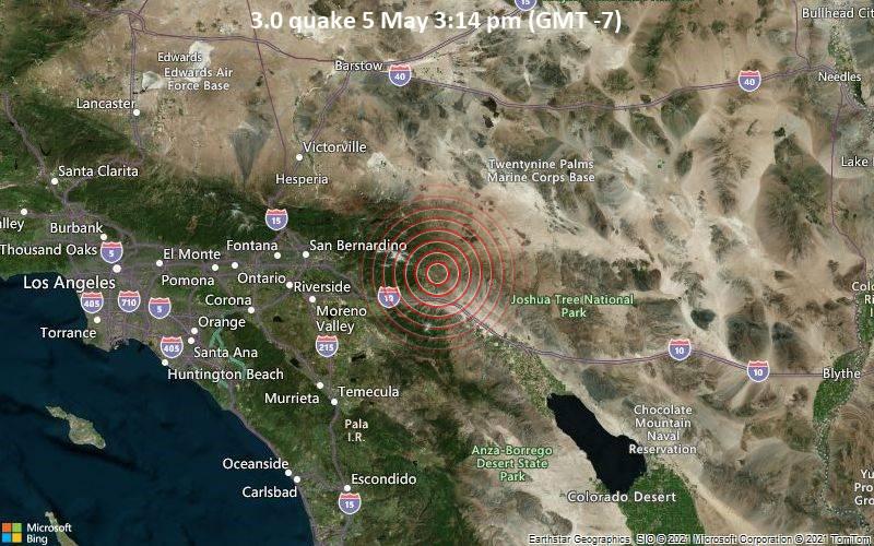 3.0 Gempa bumi 5 Mei 3:14 sore (GMT -7)