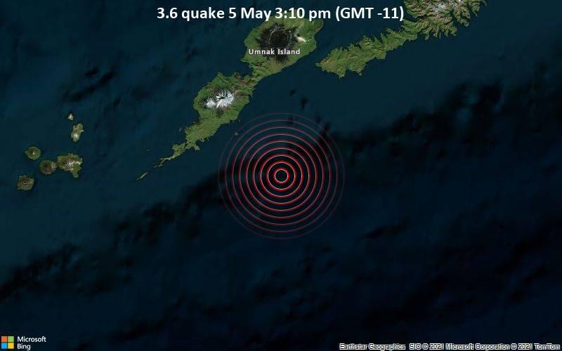 3.6 quake 5 May 3:10 pm (GMT -11)