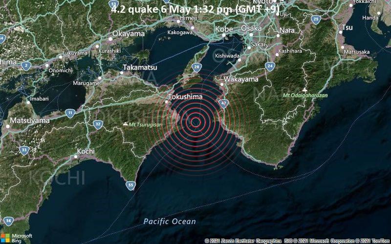 4.2 quake 6 May 1:32 pm (GMT +9)