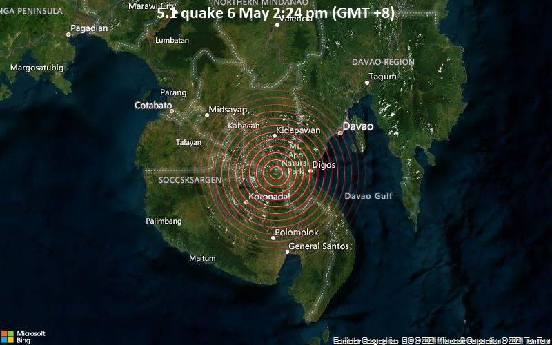 5.1 quake 6 May 2:24 pm (GMT +8)