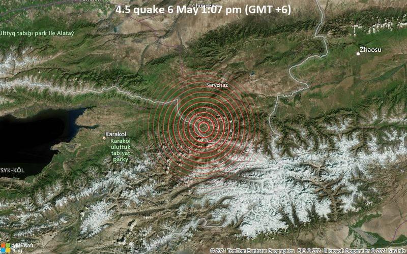 4.5 quake 6 May 1:07 pm (GMT +6)