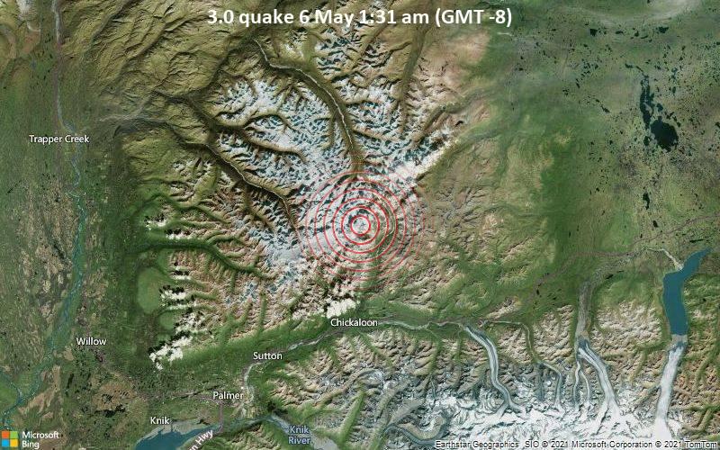 3.0 quake 6 May 1:31 am (GMT -8)