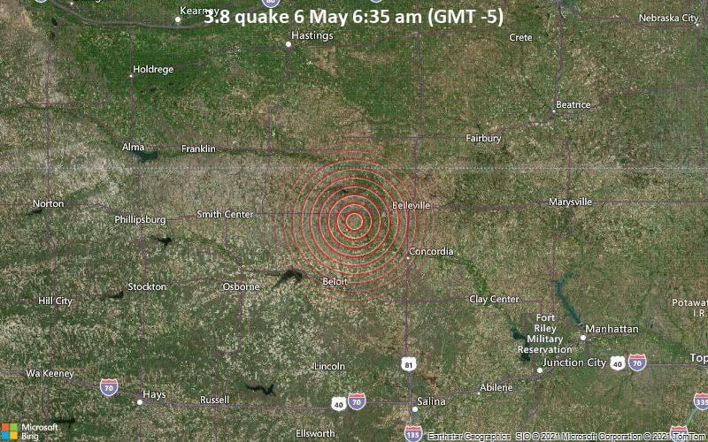 3.8 quake 6 May 6:35 am (GMT -5)