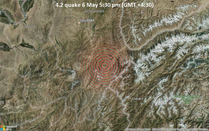 4.2 quake 6 May 5:30 pm (GMT +4:30)