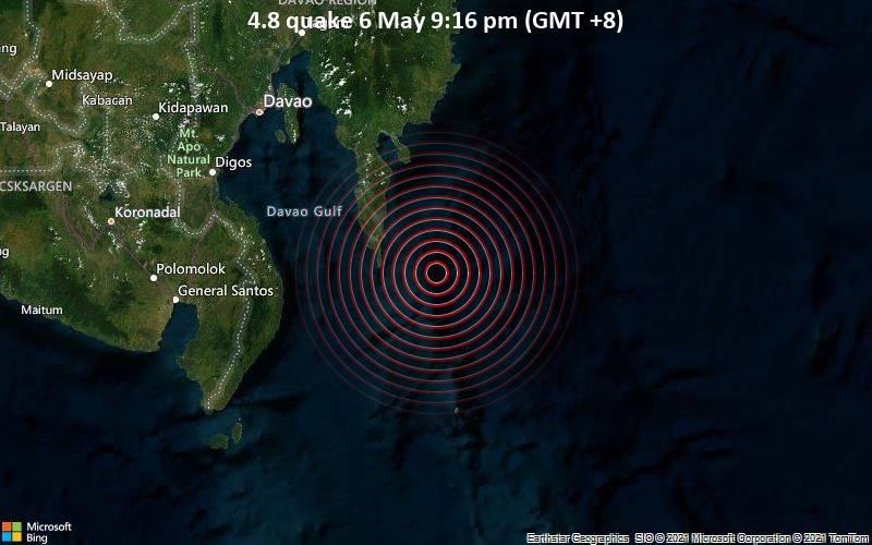 4.8 quake 6 May 9:16 pm (GMT +8)