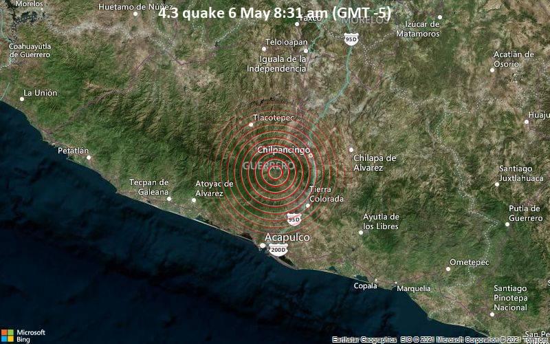 4.3 quake 6 May 8:31 am (GMT -5)