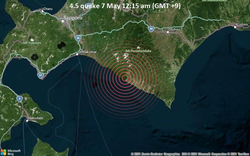 4.5 quake 7 May 12:15 am (GMT +9)