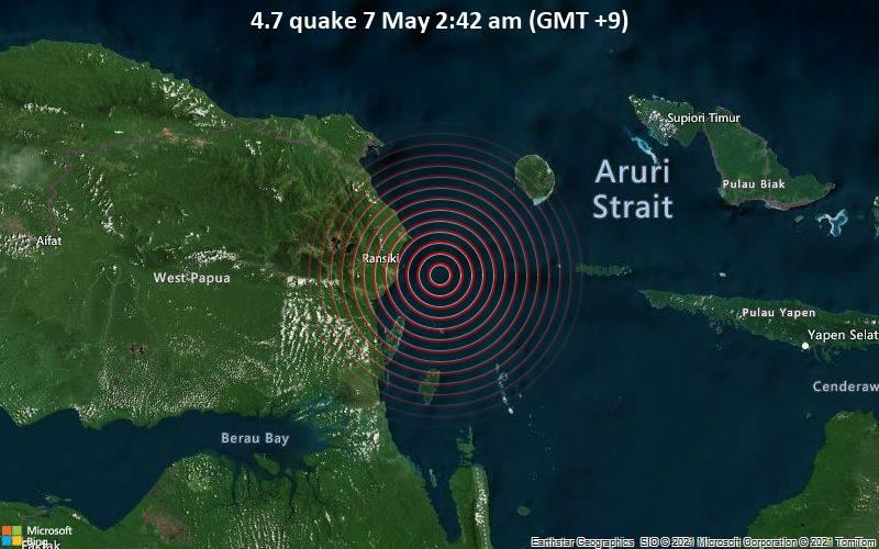 4.7 quake 7 May 2:42 am (GMT +9)