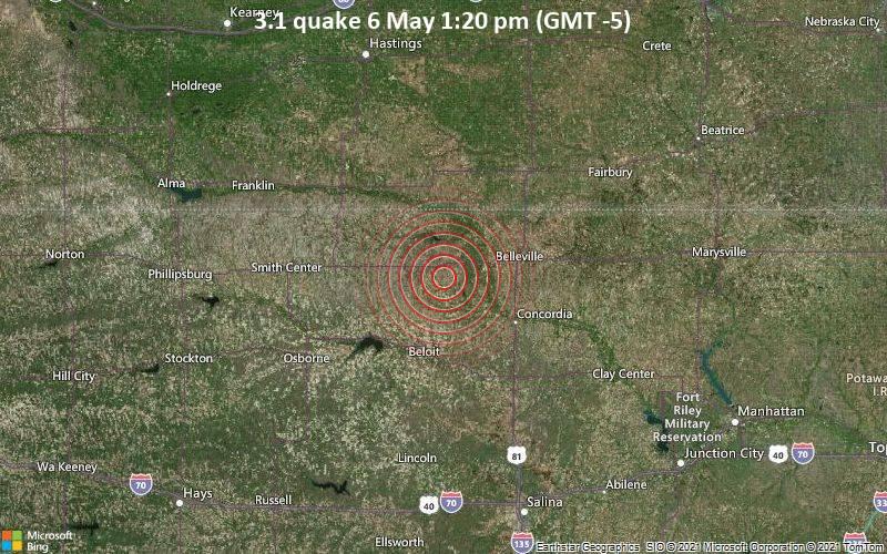 3.1 quake 6 May 1:20 pm (GMT -5)